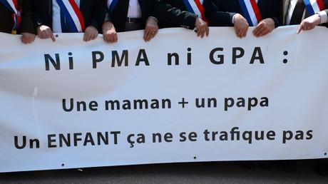 Manifestation contre la PMA en mai 2013 (image d'illustration).