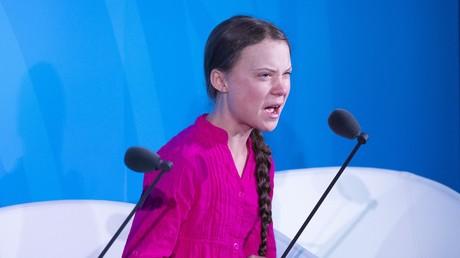 Greta Thunberg s'exprime lors du sommet de l'ONU sur le changement climatique, le 23 septembre.