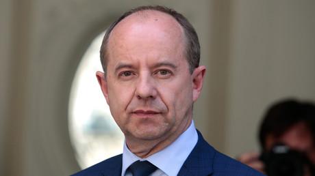 Jean-Jacques Urvoas, le 17 mai 2017 lors de sa passation de pouvoir au ministère de la Justice (image d'illustration).