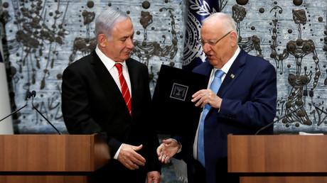 Le Premier ministre Benjamin Netanyahou et le président israélien Reuven Rivlin le 25 septembre 2019 à Jérusalem.