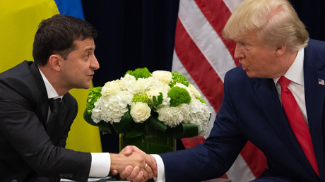 Volodymyr Zelensky et Donald Trump, le 25 septembre 2019, à New York (image d'illustration).