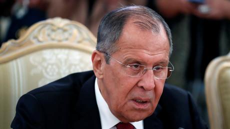 Serguei Lavrov, le ministre des Affaires étrangères russes, lors d'une rencontre avec son homologue iranien Javad Zarif à Moscou le 2 septembre 2019 (image d'illustration).
