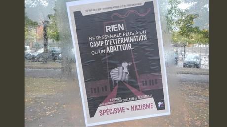 L'association antispéciste 269 Life compare les abattoirs aux camps d'extermination nazis
