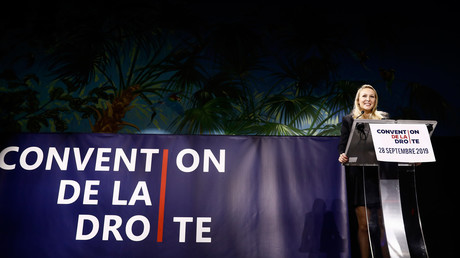 Marion Maréchal à la Convention de la droite, le 28 septembre 2019.