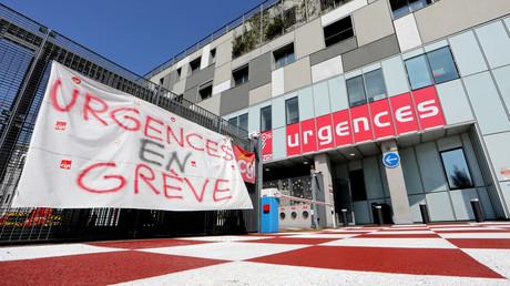 Façade du service des urgences de l'hôpital Pasteur à Nice, le 3 septembre 2019.
