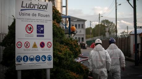 Le 27 septembre 2019 à l'usine de produits chimiques Lubrizol, près de Rouen.