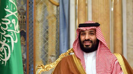 Mohammed ben Salmane lors d'une réunion avec le secrétaire d'Etat américain Mike Pompeo, à Jeddah, le 18 septembre 2019. (image d'illustration)