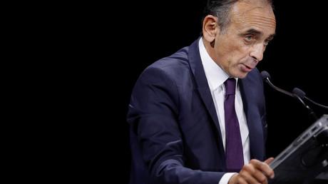 Le polémiste Eric Zemmour prononce un discours lors de la convention de la droite à Paris, le 28 septembre 2019.