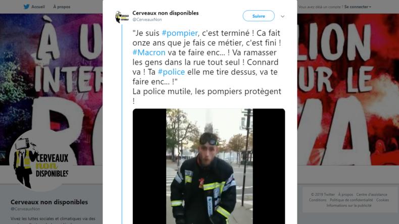 Le pompier blessé qui a fait le buzz en insultant Macron risque la révocation 5daf0edc87f3ec2601097bb2