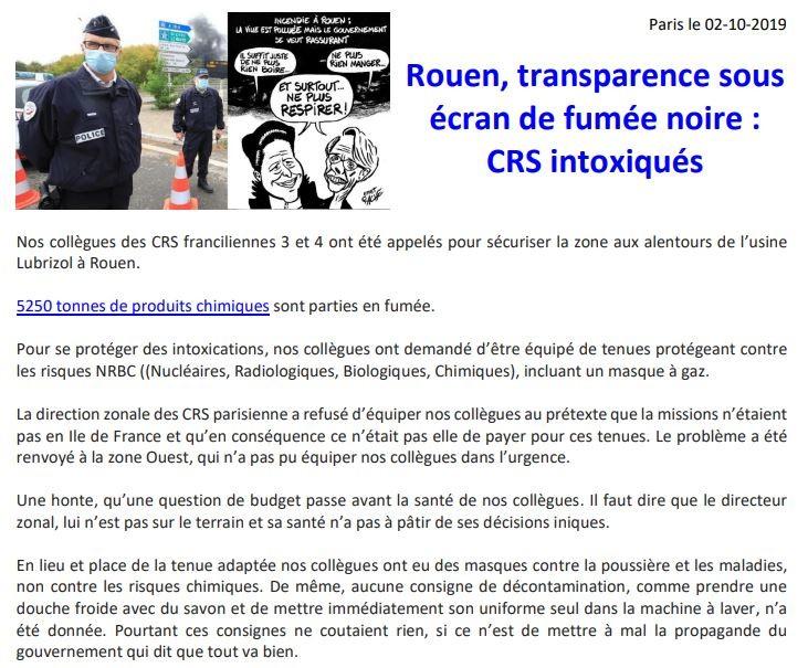 Incendie de Rouen : les pompiers et policiers primo-intervenants étaient-ils assez équipés ?