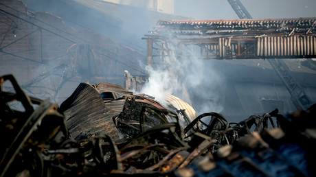 L'usine rouennaise de Lubrizol au lendemain de l'incendie, le 27 septembre 2019.