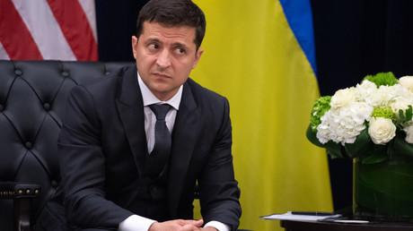 Le président ukrainien, Volodymyr Zelensky, le 25 septembre 2019, lors de l'Assemblée générale des Nations Unies, à New York, aux Etats-Unis (image d'illustration).