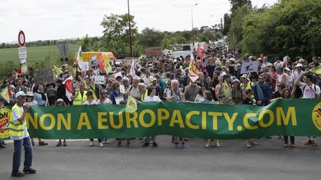 Manifestation contre le projet EuropaCity à Gonesse le 21 mai 2017 (image d'illustration).