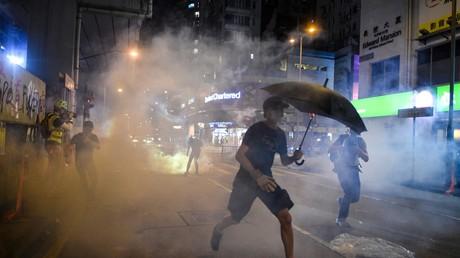 Des heurts éclatent entre forces de l'ordre et manifestants à Hong-Kong, le 7 octobre 2019 (image d'illustration).