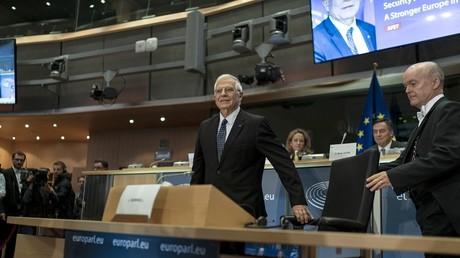 L'Espagnol Josep Borrell, lors de son audition devant les parlementaires qui doivent le confirmer au poste de haut représentant de l'Union pour les affaires étrangères.