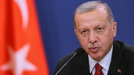 Le président Recep Tayyip Erdogan, le 7 octobre 2019, à Belgrade, en Serbie (image d'illustration).