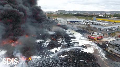 L'usine Lubrizol de Rouen en proie aux flammes, le 27 septembre 2019 (image d'illustration).
