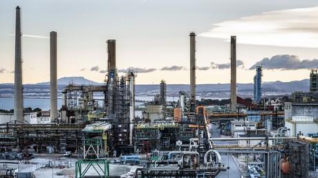 Bio-Raffinerie Total de Le Mède, dans les Bouches-du-Rhône, France (illustration).