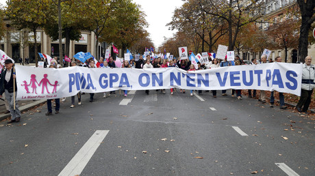 La manifestation parisienne contre la «PMA pour toutes», le 5 octobre 2019 (image d'illustration).