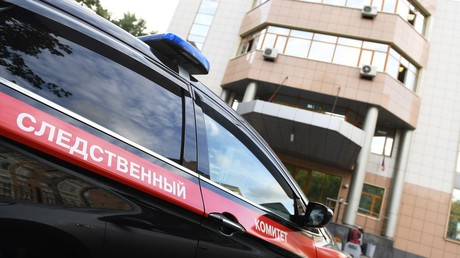 Une voiture du comité d'enquête de la Fédération de Russie près du bâtiment du tribunal Simonovsky à Moscou (image d'illustration).
