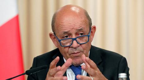 Le chef de la diplomatie française, Jean-Yves Le Drian, à Moscou le 9 septembre 2019 (image d'illustration).