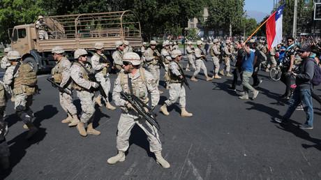 Militaires déployés à Santiago le 20 octobre.