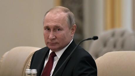 15 octobre 2019. Le président russe Vladimir Poutine lors de sa viste d'Etat à l'Arabie Saoudite.