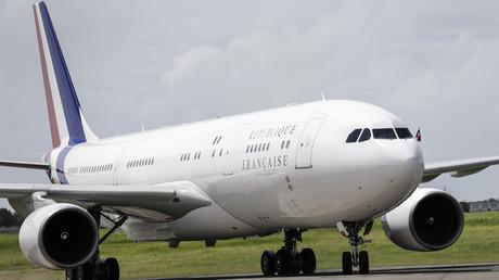 Un Airbus A380 aux couleurs de la République française.