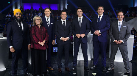 Débat au Musée canadien de l'histoire à Gatineau, Québec, le 10 October 2019