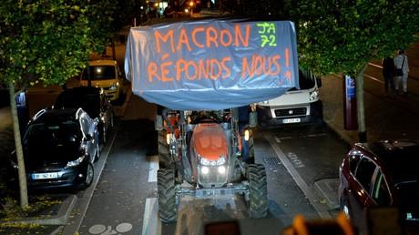 Des agriculteurs manifestent au Mans, le 21 octobre 2019, dans la Sarthe (image d'illustration).