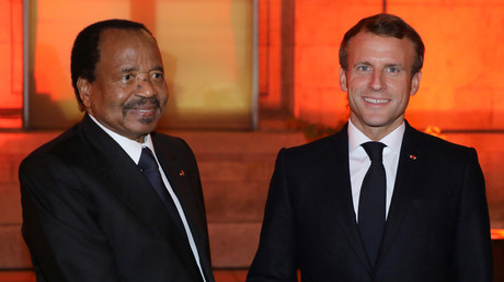 Paul Biya et Emmanuel Macron le 9 octobre 2019 à Lyon (image d'illustration).
