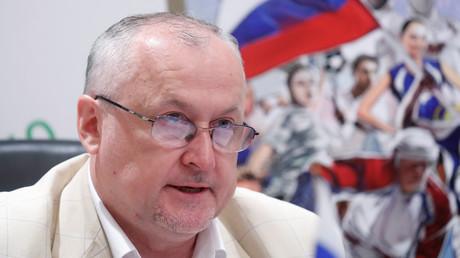Le président de l'Agence russe antidopage (RUSADA), Youri Ganus, lors d'une conférence de presse à Moscou, le 19 juin 2019, en Russie (image d'illustration).