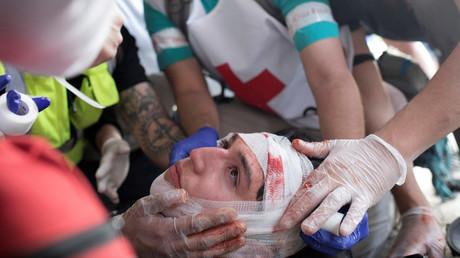 Manifestant blessé à Santiago, le 23 octobre (image d'illustration).