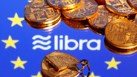 Le logo de la cryptomonnaie Libra de Facebook (image d'illustration).