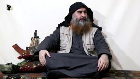 Abou Bakr al-Baghdadi le 29 avril 2019 à l'occasion d'un enregistrement audio.