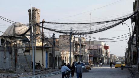 Une rue de Mossoul, où Abou Bakr al-Baghdadi avait autoproclamé son califat en 2014 (image d'illustration).
