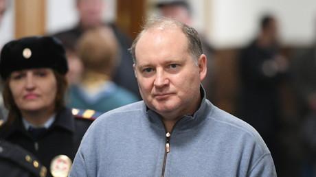 Le banquier français Philippe Delpal au tribunal de Moscou le 15 février 2019.