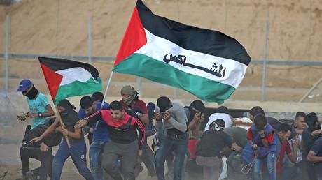 Des manifestants palestiniens à Gaza en octobre 2019 (image d'illustration).