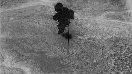 Images diffusées par le Pentagone de l'opération américaine au cours de laquelle le chef de l'Etat islamique a été éliminé (image d'illustration).