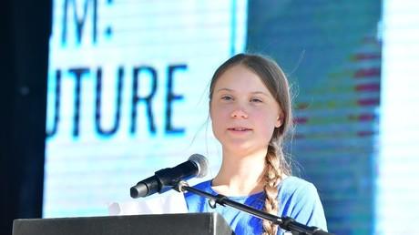 Greta Thunberg lors d'une marche pour le climat à Los Angeles, le 1er novembre 2019, aux Etats-Unis (image d'illustration).
