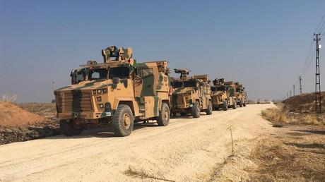 Les patrouilles russo-turques le long de la frontière avec la Syrie, le 1er novembre.