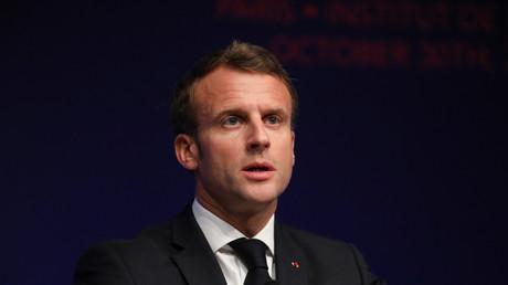 Emmanuel Macron à l'Institut de France à Paris le 20 octobre (image d'illustration).
