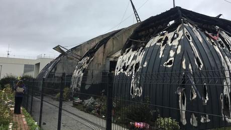 Le chapiteau détruit par les flammes le 2 novembre.