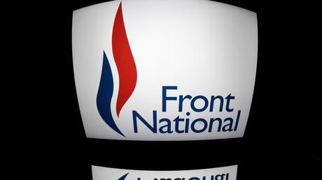 Le logo du Front national, devenu par la suite Rassemblement national, ici en 2016.