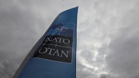 Un drapeau de l'OTAN (image d'illustration)