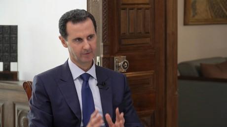 Le président syrien Bachar el-Assad répond à une interview pour RT.