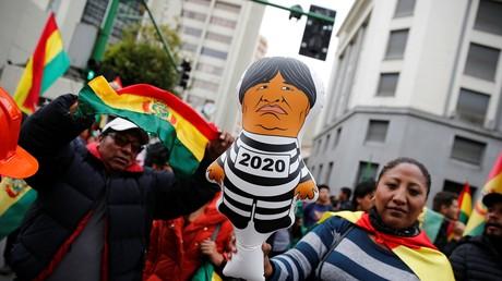 Une manifestation anti-Evo Morales à La Paz, le 9 novembre (image d'illustration)