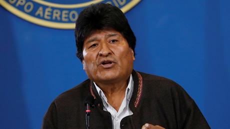 Le président bolivien Evo Morales s'adresse à la presse le 9 novembre 2019 (image d'illustration).