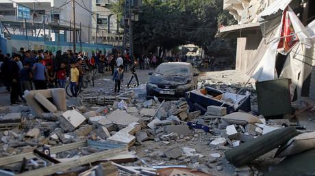Le domicile dans la bande de Gaza du commandant de l'organisation Jihad islamique Baha Abou Al-Ata, frappé par Tsahal le 12 novembre.