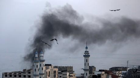 La bande de Gaza après une frappe israélienne, le 13 novembre.